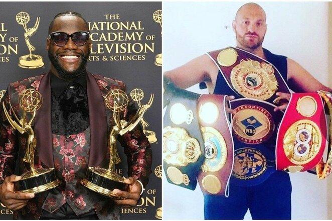 Deontay Wilderis ir Tysonas Fury   Instagram.com nuotr