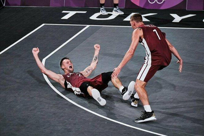 Latvių ir rusų rungtynės | FIBA nuotr.