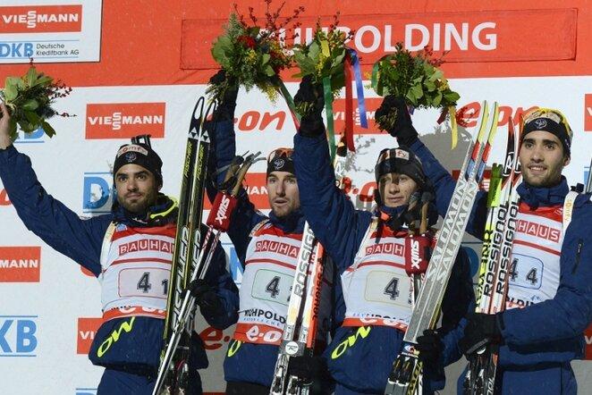 Prancūzijos vyrų biatlono rinktinė | AFP/Scanpix nuotr.