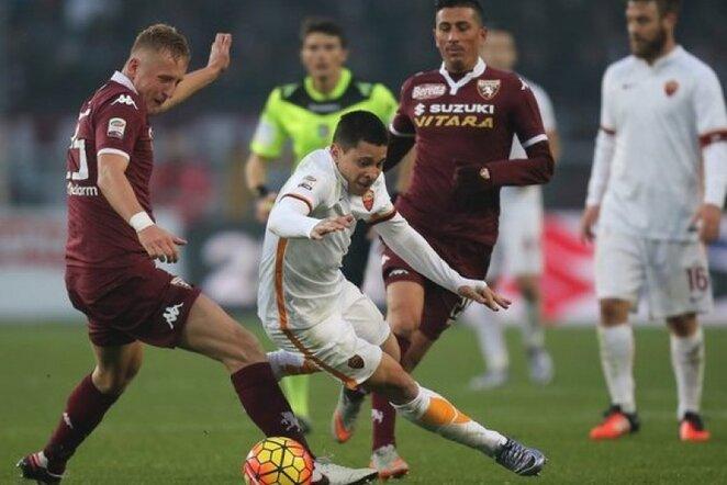 """""""Torino"""" – """"Roma"""" rungtynių akimirka   AFP/Scanpix nuotr."""