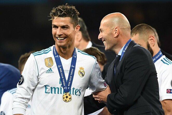 Cristiano Ronaldo ir Zinedinas Zidanas | Scanpix nuotr.