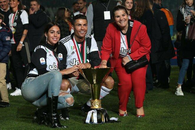 Georgina Rodriguez, Cristiano Ronaldo ir Dolores Aveiro | Scanpix nuotr.