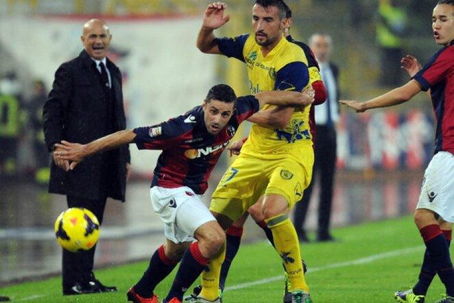 """Bologna"" – ""Chievo"" rungtynių akimirka | LaPressse/Scanpix nuotr."