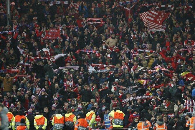 """Atletico"" fanai Liverpulyje | Scanpix nuotr."