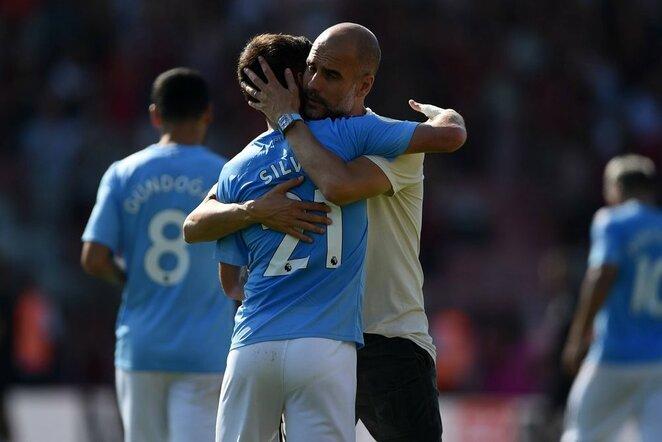 Davidas Silva ir Pepas Guardiola | Scanpix nuotr.