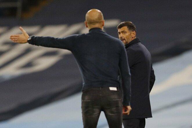 Sergio Conceicao ir Josepas Guardiola | Scanpix nuotr.