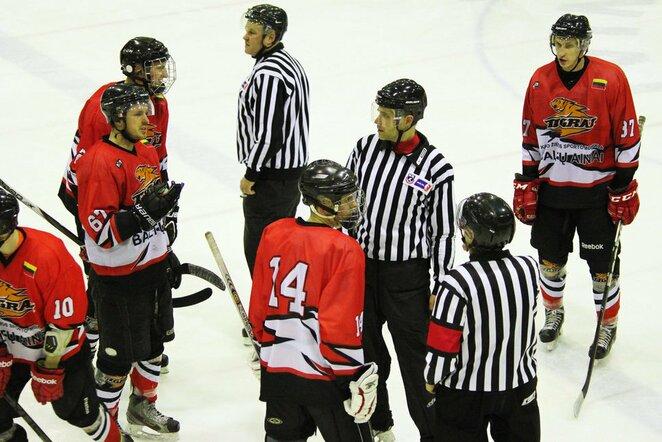 """""""Baltų ainiai"""" - """"Rokiškis"""" rungtynių akimirka   hockey.lt nuotr."""