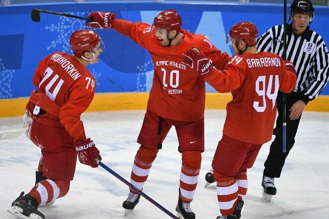 Olimpinių atletų iš Rusijos ledo ritulio rinktinė | Scanpix nuotr.