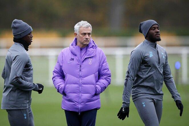 Jose Mourinho ir Tanguy Ndombele | Scanpix nuotr.