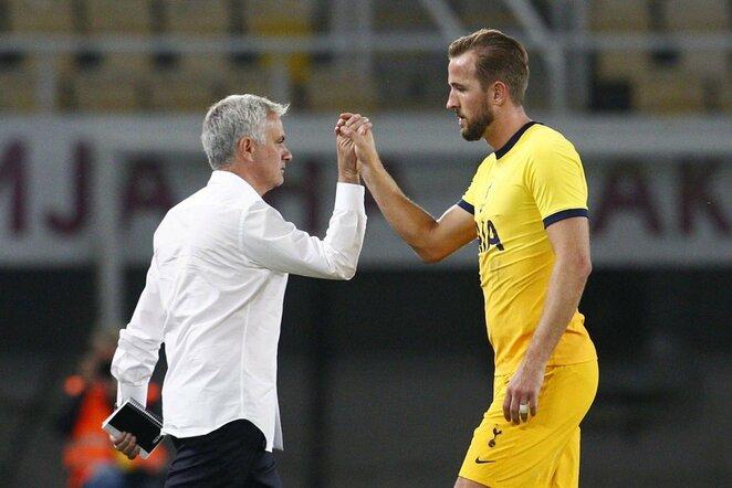 Jose Mourinho ir Harry Kane'as   Scanpix nuotr.