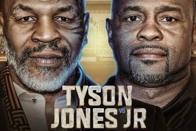 Mike'as Tysonas ir Roy Jonesas | Organizatorių nuotr.