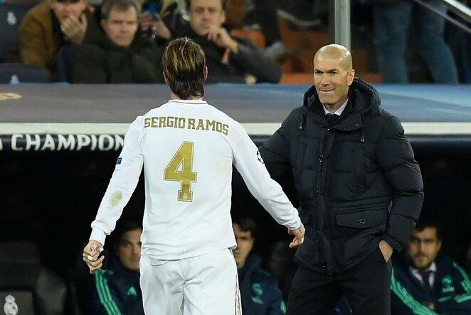 Sergio Ramosas ir Zinedine'as Zidane'as | Scanpix nuotr.