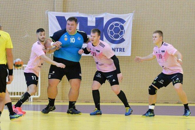 """VHC """"Šviesos"""" ir """"Dragūno"""" rungtynės   Lietuvos rankinio lygos nuotr."""