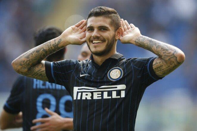 "Mauro Icardi domina ""Liverpool"" klubą | AP/Scanpix nuotr."