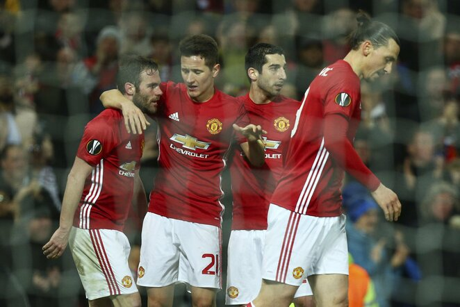 """Man United"" futbolininkai | Scanpix nuotr."