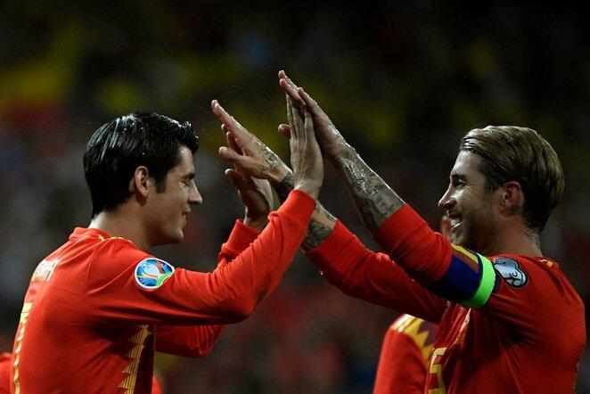 Alvaro Morata ir Sergio Ramosas | Scanpix nuotr.