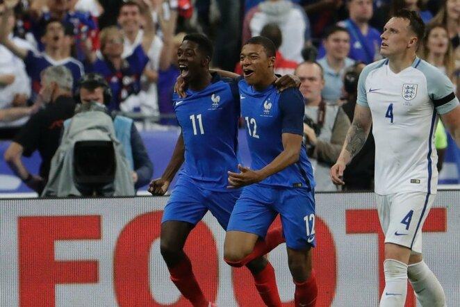 Ousmane Dembele ir Kylianas Mbappe | Scanpix nuotr.