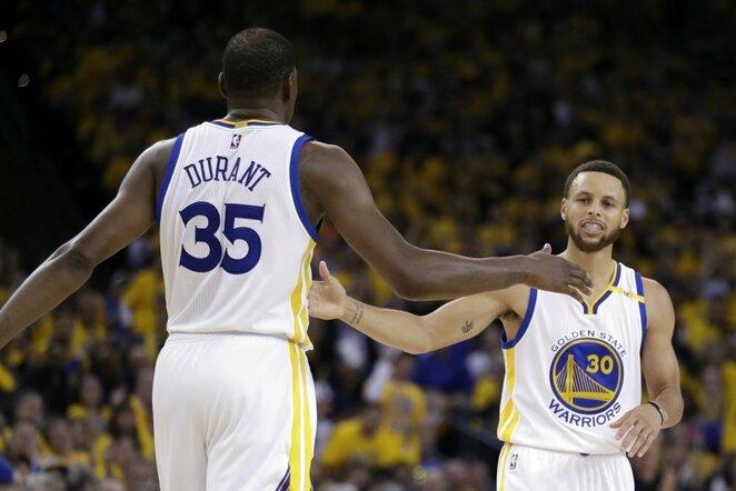 Kevinas Durantas ir Stephenas Curry | Scanpix nuotr.