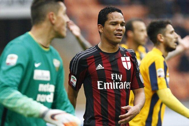 Carloso Baccos įvarčio Milano klubo pergalei nepakako | LaPresse/Scanpix nuotr.