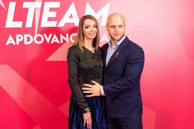 Aurimas Lankas su žmona Egle | Organizatorių nuotr.