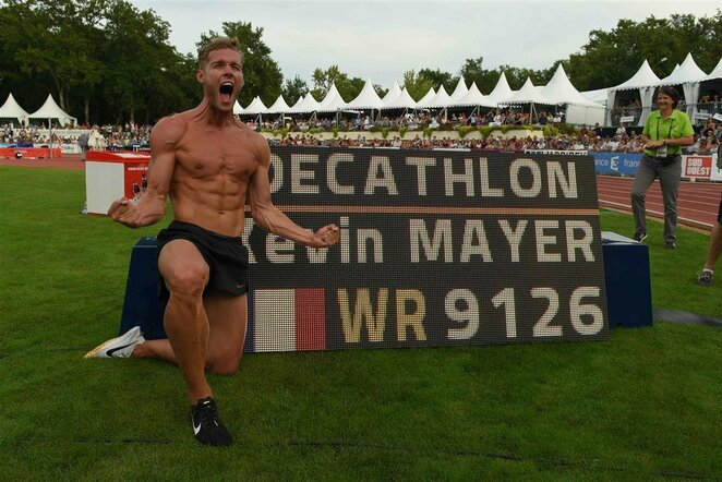 Kevinas Mayeris pagerino pasaulio dešimtkovės rekordą   Scanpix nuotr.