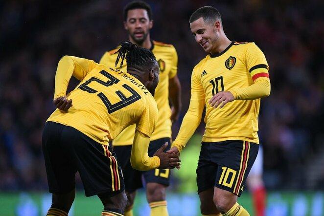 Škotija - Belgija rungtynių akimirka    Scanpix nuotr.