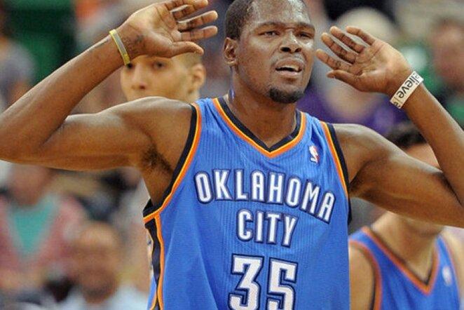 K.Durantas ir R.Westbrookas sužaidė įspūdingas rungtynes (Scanpix)