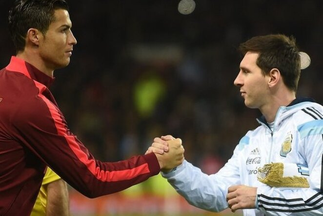 Cristiano Ronaldo ir Lionelis Messi | AFP/Scanpix nuotr.