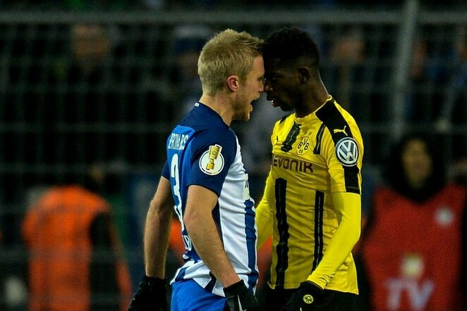 """Borussia Dortmund"" – ""Hertha Berlin"" rungtynių akimirka | Scanpix nuotr."