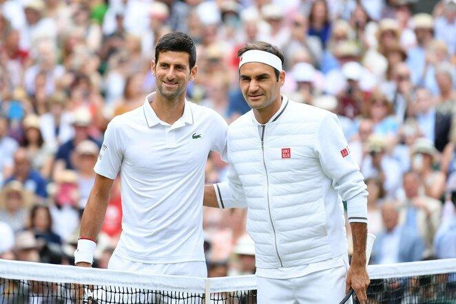Novakas Djokovičius ir Rogeris Federeris | Scanpix nuotr.