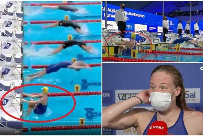 """Europos čempionate teko iš naujo plaukti finalą   """"Twitter"""" nuotr."""
