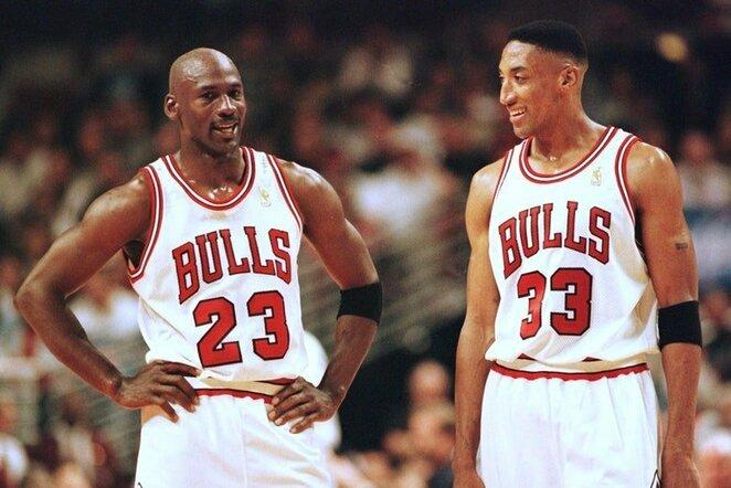 Michaelas Jordanas ir Scottie Pippenas   Organizatorių nuotr.