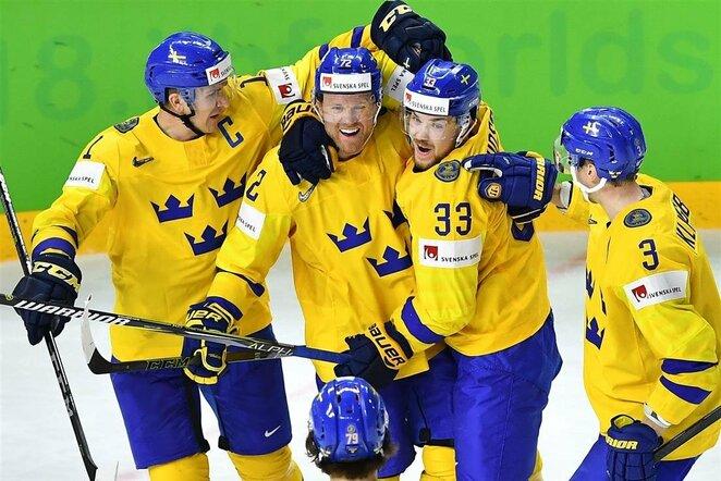 Švedų ir amerikiečių rungtynės | Scanpix nuotr.