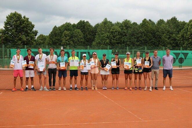 Lietuvos jaunių teniso čempionato prizininkai | Organizatorių nuotr.