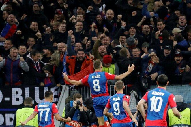 """UEFA Čempionų lyga: Maskvos CSKA - Madrido """"Real""""   Scanpix nuotr."""