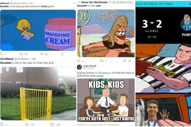 """Geriausi internautų pokštai po """"Juventus"""" ir """"Porto"""" rungtynių   """"Twitter"""" nuotr."""