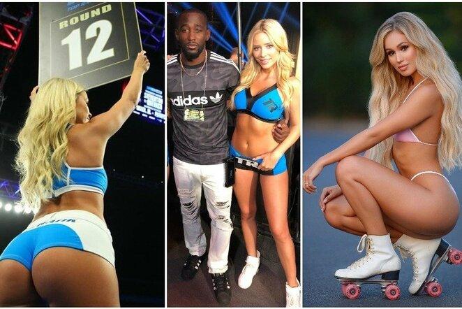 E.Kavaliausko ir T.Crawfordo kovos ringo merginos | Instagram.com nuotr