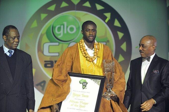 Praėjusiais metais geriausiu išrinktas Yaya Toure (centre) | AFP/Scanpix nuotr.