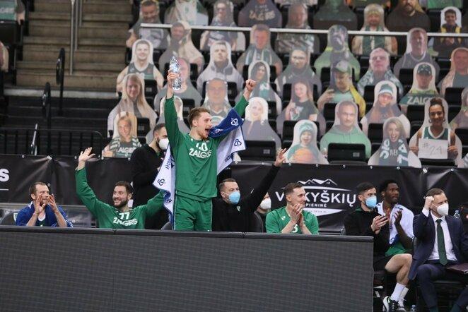 """""""Žalgiris"""" –""""Chimki"""" rungtynių akimirka   Eriko Ovčarenko / BNS foto nuotr."""