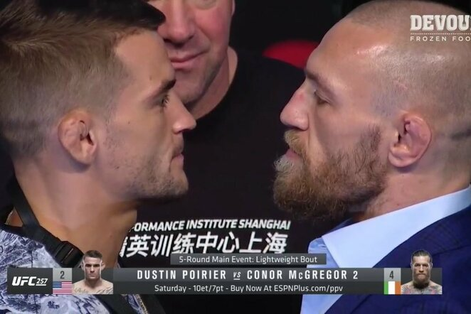 Dustinas Poirier ir Conoras McGregoras | Youtube.com nuotr.