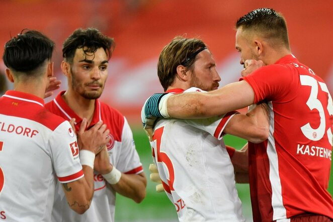 """Dusseldorf"" ir ""Schalke"" rungtynių akimirka | Scanpix nuotr."