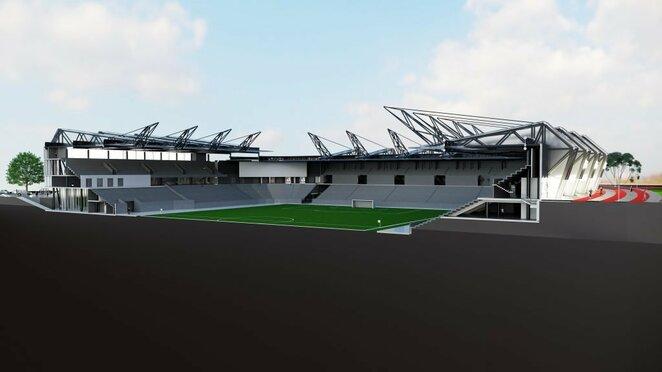 Stadiono maketai | Organizatorių nuotr.