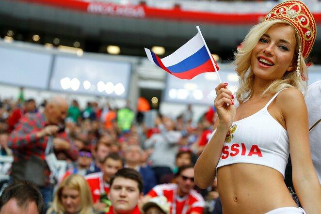 Įspūdingiausi Rusijos ir Saudo Arabijos rungtynių sirgaliai   Scanpix nuotr.