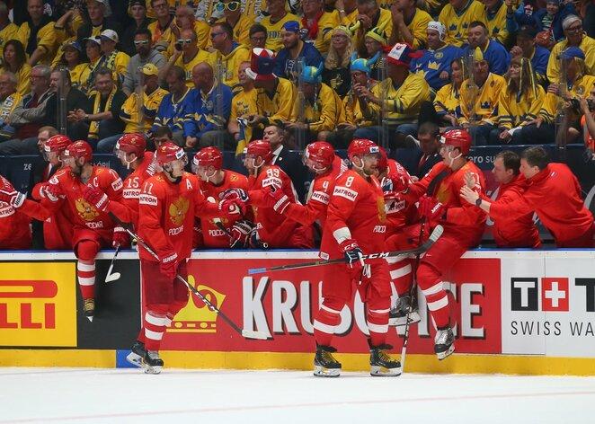 Rusų ir švedų rungtynės | IIHF nuotr.