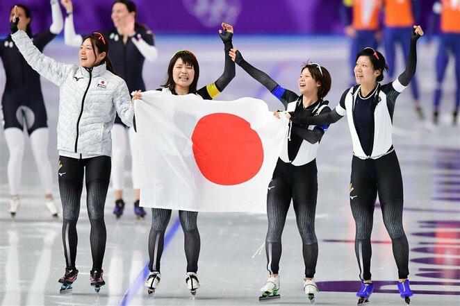 Moterų greitojo čiuožimo komandinių persekiojimo lenktynių finalai | Scanpix nuotr.