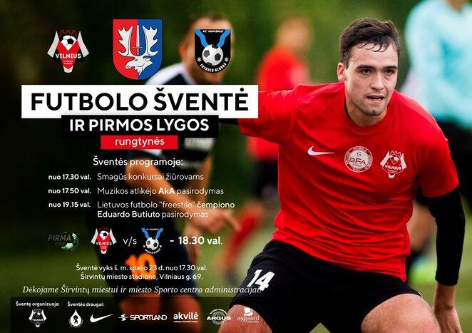 Futbolo šventės plakatas | Organizatorių nuotr.