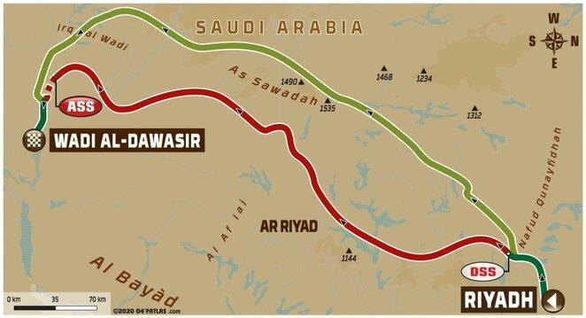 Septintojo etapo žemėlapis | Organizatorių nuotr.
