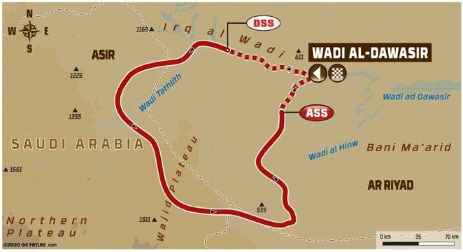Aštuntojo etapo žemėlapis | Organizatorių nuotr.