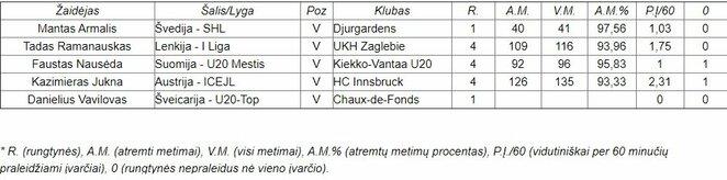 Lietuvos ledo ritulininkų statistika | hockey.lt nuotr.