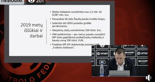 LFF biudžeto pristatymas | Organizatorių nuotr.